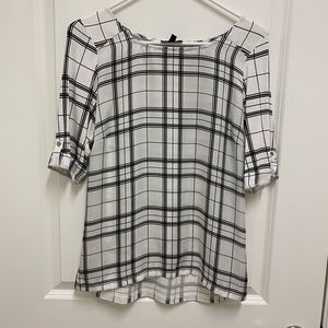 The Limited Black & white blouse